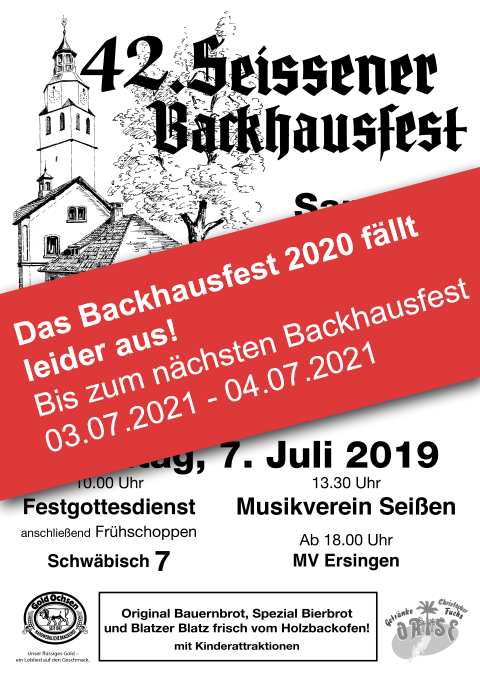Backhausfest Plakat